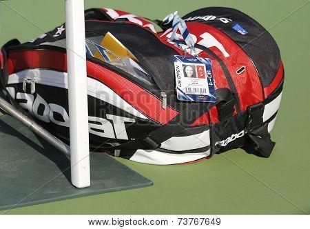 Grand Slam champion Samantha Stosur customized Babolat tennis bag at US Open 2014