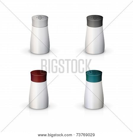 Vector illustration of containers for spices