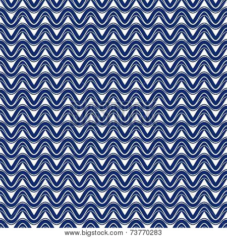 Sine Waves Seamless Pattern