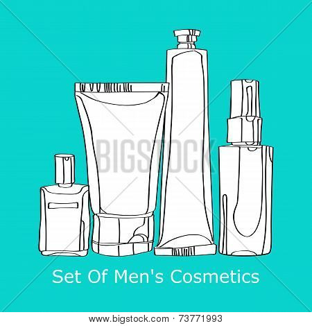 set of men's cosmetics
