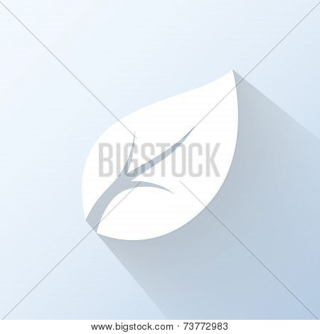 Flat Leaf Icon. Vector Illustration