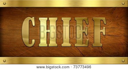 Vintage Door Plate, Chief