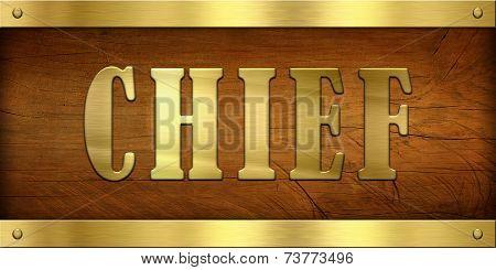 Vintage Door Plate, Chief