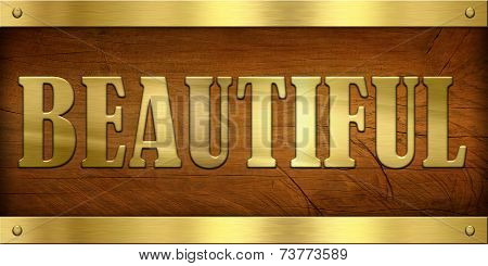 Vintage Door Plate, Beautiful
