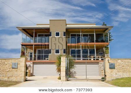 Duplex Against Blue Sky