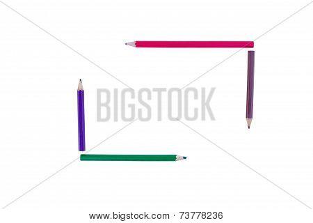 Four Pencil Crayon Border