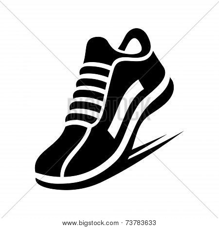 Running Shoe Icon. Vector