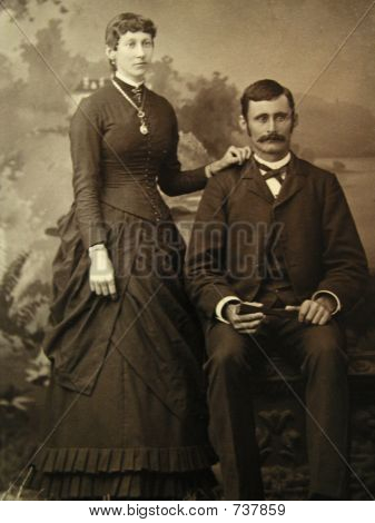 vintage 1884 man and lady
