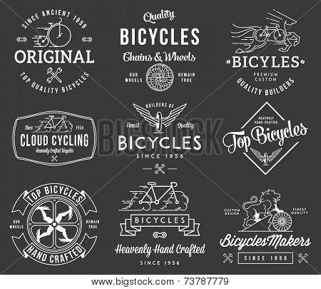 Bicycle Builders Set 1 White On Black