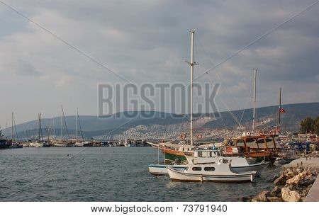 Boats In Akbuk, Turkey