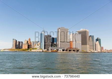 view of lower manhattan in new york city - USA