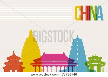 Travel China Destination Landmarks Skyline Background