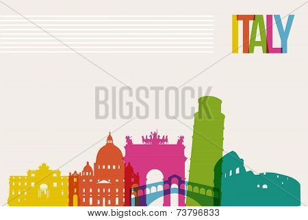 Travel Italy Destination Landmarks Skyline Background