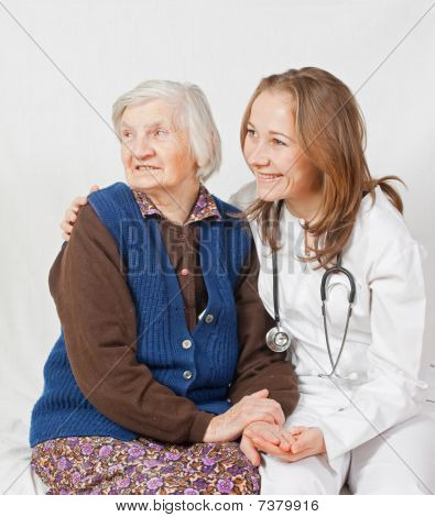 Old Woman And The Sweet Young Doctor Staying Together