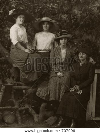 Vintage Women 1924 Nature Portrait