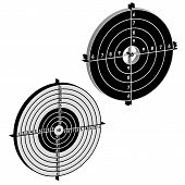 picture of crossed pistols  - Set targets for practical pistol shooting - JPG