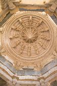picture of jainism  - Ceiling in Ranakpur Chaumukha temple - JPG