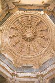 pic of jainism  - Ceiling in Ranakpur Chaumukha temple - JPG