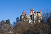 stock photo of dracula  - Bran Castle of Dracula situated near Brasov Romania - JPG