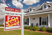 pic of yard sale  - Sold Short Sale Home For Sale Real Estate Sign in Front of New House  - JPG