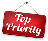 stock photo of priorities  - high priority very urgent top secret and crucial info last chance or opportunity do it now - JPG