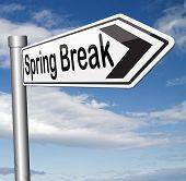 stock photo of spring break  - spring break holiday or school vacation     - JPG