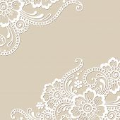 pic of lace  - White flower corner - JPG