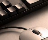 Постер, плакат: Сепия мыши и клавиатуры