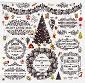 stock photo of snow border  - Christmas Decoration Collection  - JPG