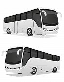pic of bus driver  - big tour bus vector illustration isolated on white background - JPG