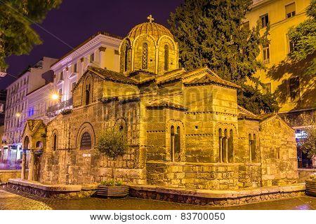 Church Of Panagia Kapnikarea, An Ancient Church In Athens, Greece