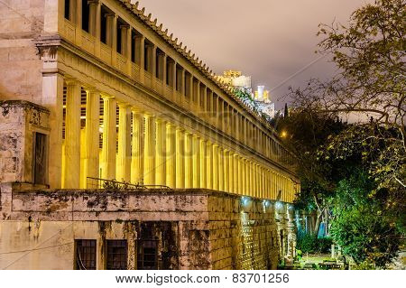 Stoa Of Attalos In Athens - Greece