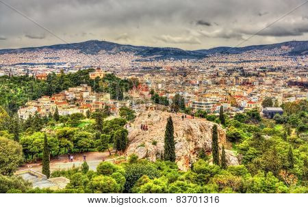 View Of The Hill Of The Nymphs In Athens, Greece
