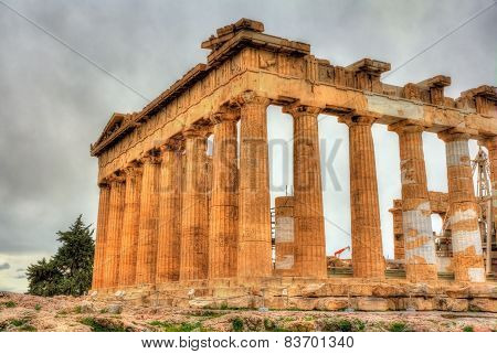 Details Of Parthenon In Athens - Greece