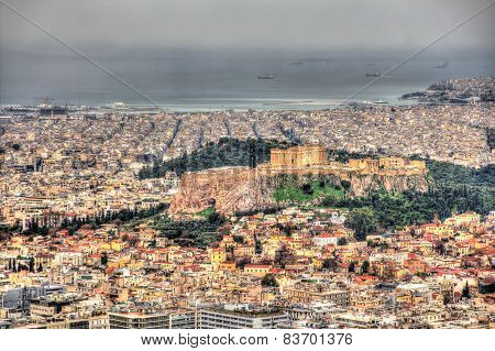 View Of The Acropolis Of Athens From Mount Lycabettus - Greece
