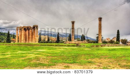 Temple Of Olympian Zeus In Athens - Greece