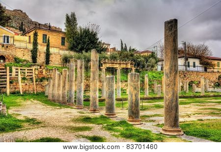 The Library Of Hadrian In Athens - Greece