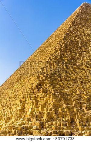 Edge Of The Great Pyramid Of Giza - Egypt
