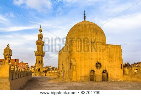 Dome And Minaret Of The Amir Al-maridani Mosque In Cairo - Egypt