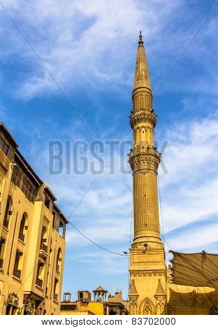 Minaret Of The Al-hussein Mosque In Cairo - Egypt