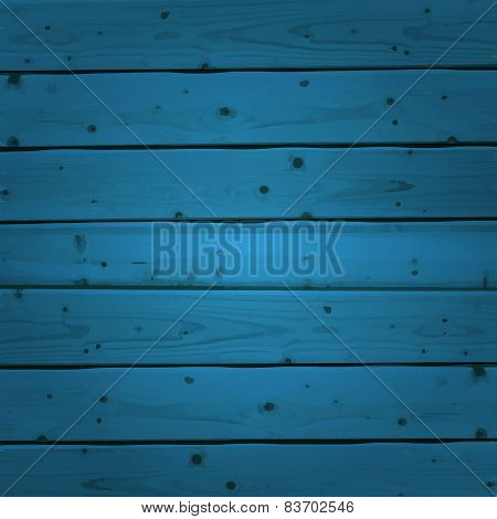 Blue wood planks texture. Vector illustration