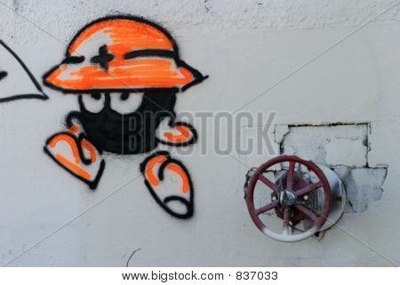 Water Valve With Graffiti