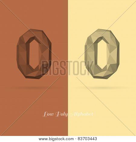 Polygonal Flat Alphabet Number 0