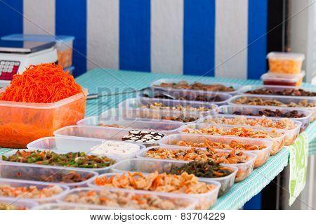 Market Chineese Vegetables Rack