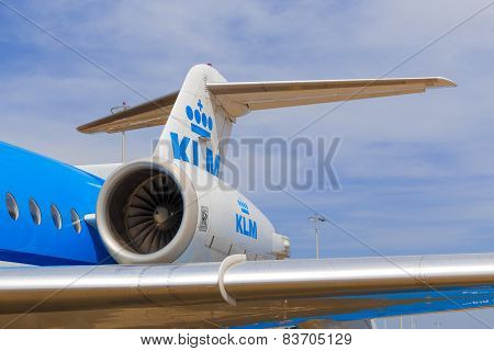 Tail Section Of A Fokker 70
