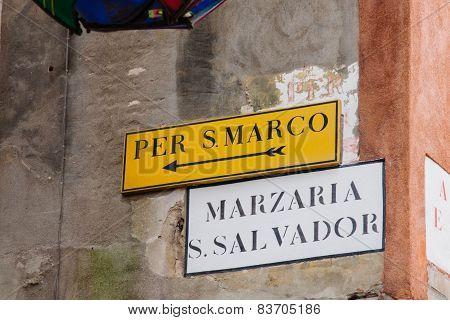 Street Signs, Venice