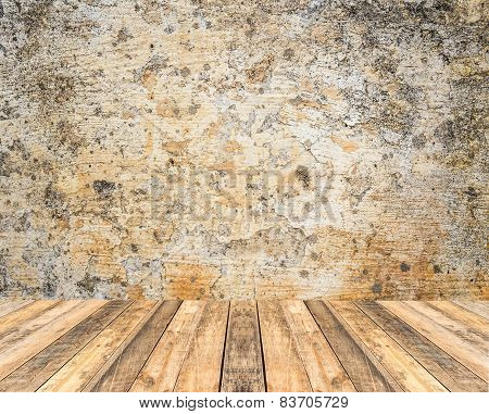 Old Wooden Floor And Grunge Background