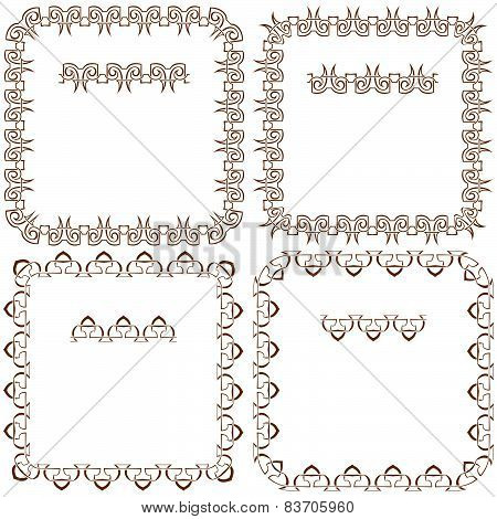 Vector Set Of Beautiful Square Frames