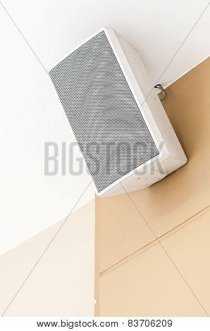 White Loudspeaker