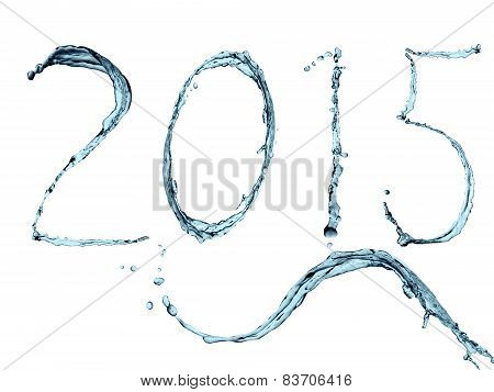 Happy 2015 water splash